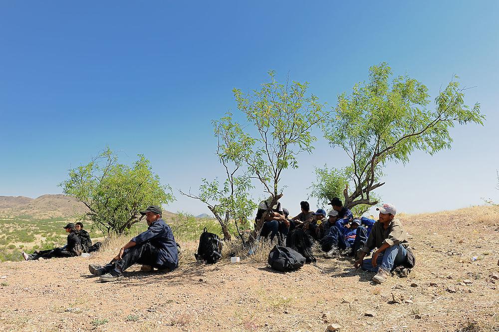 Immigration along the USA-Mexico border.