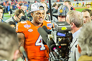 Deshaun Watson during post game interview