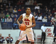 """Ole Miss' Jarvis Summers (32) vs. East Tennessee State at the C.M. """"Tad"""" Smith Coliseum in Oxford, Miss. on Saturday, December 14, 2012. Mississippi won 77-55 to improve to 7-1. (AP Photo/Oxford Eagle, Bruce Newman).."""