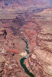 Flightseeing over the Colorado River, Grand Canyon National Park.