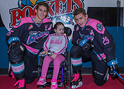 KELOWNA, CANADA - OCTOBER 21:  Cal Foote #25 of the Kelowna Rockets and Nolan Foote #29 of the Kelowna Rockets at the Kelowna Rockets game on October 21, 2017 at Prospera Place in Kelowna, British Columbia, Canada.  (Photo By Cindy Rogers/Nyasa Photography,  *** Local Caption ***
