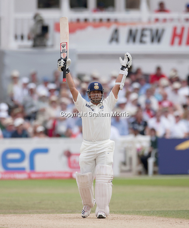 Sachin Tendulkar bats during the second npower Test Match between England and India at Trent Bridge, Nottingham.  Photo: Graham Morris (Tel: +44(0)20 8969 4192 Email: sales@cricketpix.com) 01/08/11