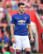 Regan Poole of Manchester United U23's during the Under 23 Premier League 2 match between Southampton and Manchester United at St Mary's Stadium, Southampton, England on 22 August 2016. Photo by Phil Duncan.