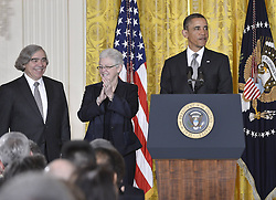 U.S. President Barack Obama (R), MIT scientist Ernest Moniz (L) and assistant EPA administrator Gina McCarthy attend a nomination ceremony in the East Room of the White House in Washington D.C., capital of the United States, March 4, 2013. Obama announced Monday that he picked Ernest Moniz to be his next energy secretary and Gina McCarthy to lead the Environmental Protection Agency, US, March 4, 2013. Photo by Imago / i-Images...UK ONLY