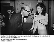 Andrew Wyllie & Isabel Fonseca. Martin Amis Book party. New York. 1993<br />Photograph by Dafydd Jones<br />66 Stockwell Park Rd. London SW9 0DA<br />Tel 0171 733 0108