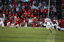 25 September 2010: Anthony Grady leaps at and misses kick off return man Ben Ericksen.  The Missouri State Bears lost to the Illinois State Redbirds 44-41 in double overtime, meeting at Hancock Stadium on the campus of Illinois State University in Normal Illinois.
