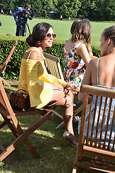 Georgia May Foote at the Laureus polo Cup at Ham Polo Club, Ham, London, England. 21 June 2018.