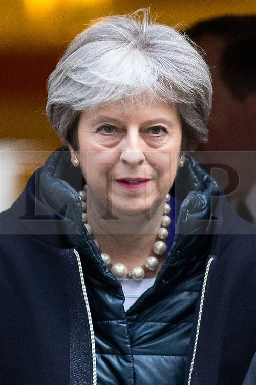 © Licensed to London News Pictures. 06/02/2018. London, UK. British Prime Minister Theresa May leaves 10 Downing Street. Photo credit : Tom Nicholson/LNP