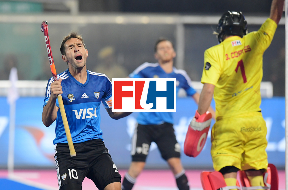 Odisha Men's Hockey World League Final Bhubaneswar 2017<br /> Match id:11<br /> Argentina v Spain<br /> Foto: Matias Paredes (Arg) <br /> COPYRIGHT WORLDSPORTPICS FRANK UIJLENBROEK