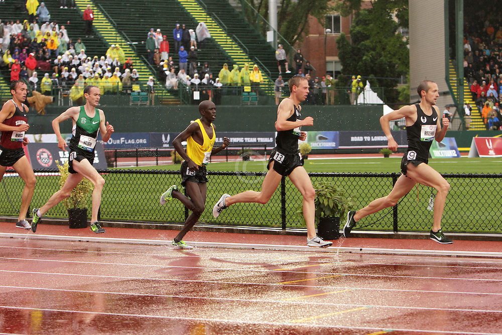 Olympic Trials Eugene 2012: men's 10,000 meter final, Ritzenhein leads