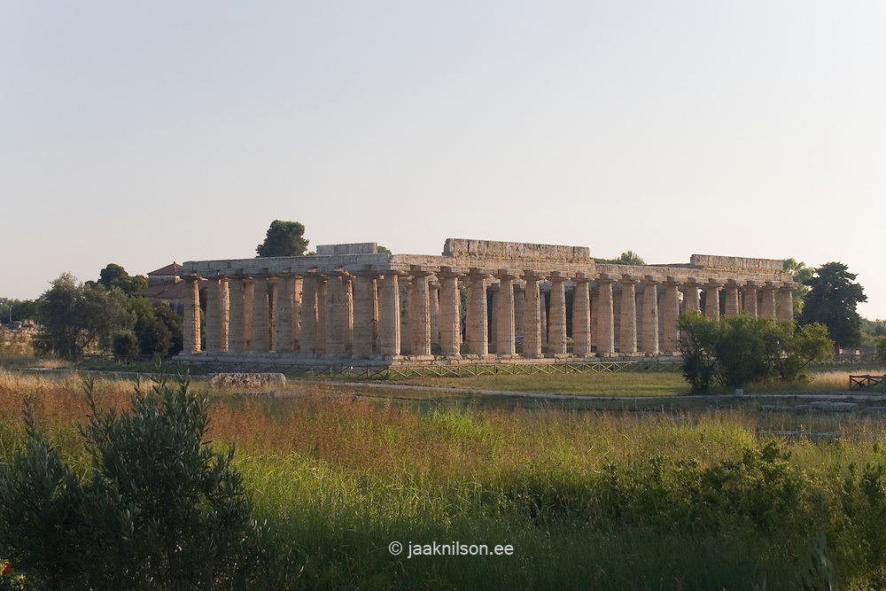 Ruins of Paestum, Campania, Italy. World Heritage Site.