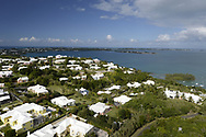View of Hog Bay looking towards Somerset Village, Bermuda Island, a British island territory in the North Atlantic Ocean.
