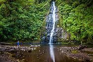 Waterfall in Bajos del Toro, Costa Rica.