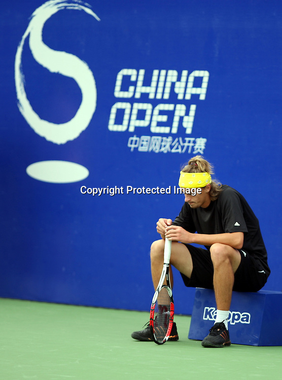 Sep 23, 2008, Beijing, China, Juan Carlos Ferrero of Spain 2:0 Alexandre Kudryavtsev of Russia in the first round of China Open at the Beijing Tennis Center.