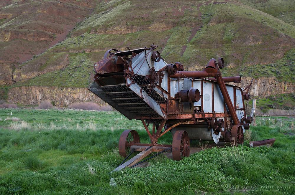 Threshing machine, Cottonwood Canyon State Park, Oregon