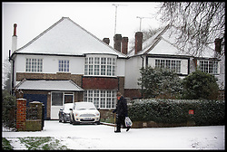 Snow falls in Woodford Green, Essex, Friday January 18, 2013. Photo: Andrew Parsons / i-Images