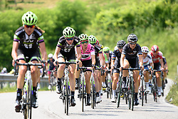 Liv Plantur control the gap looking to protect the pink jersey at Giro Rosa 2016 - Stage 1. A 104 km road race from Gaiarine to San Fior, Italy on July 2nd 2016.