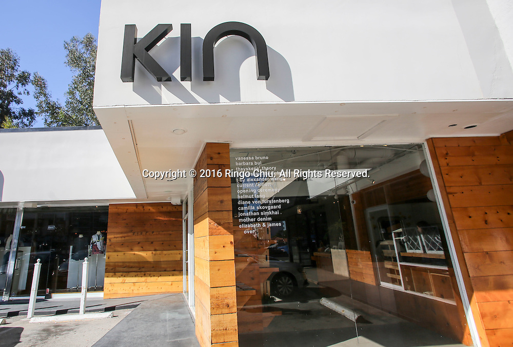 KIN, one of the most celeb-visited boutiques in West Hollywood favored by Jessica Alba, Katie Holmes and Kanye West.(Photo by Ringo Chiu/PHOTOFORMULA.com)<br /> <br /> Usage Notes: This content is intended for editorial use only. For other uses, additional clearances may be required.