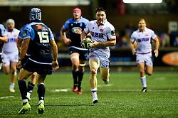 Matt Scott of Edinburgh Rugby makes a break - Mandatory by-line: Ryan Hiscott/JMP - 05/10/2019 - RUGBY - Cardiff Arms Park - Cardiff, Wales - Cardiff Blues v Edinburgh Rugby - Guinness Pro 14