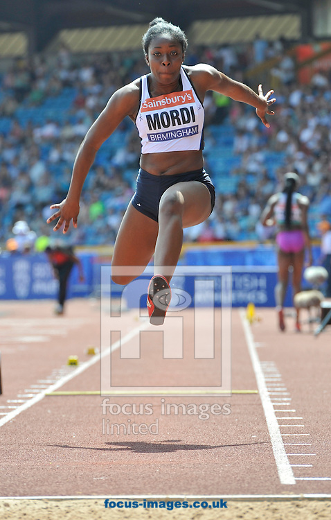 Picture by Alan Stanford/Focus Images Ltd +44 7915 056117<br /> 12/07/2013<br /> Nony Mordi (GBR) Triple jump pictured during day two of Sainsbury's British Championship at Alexander Stadium, Birmingham.