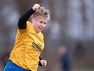 FODBOLD: Nina Druedal (Ølstykke FC) jubler efter scoringen til 1-0 under kampen i Sjællandsserien mellem Ølstykke FC og Herlufsholm GF den 12. april 2018 på Ølstykke Stadion (kunstgræs). Foto: Claus Birch.