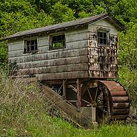 Buffalo Creek Mill in spring, rural Missouri