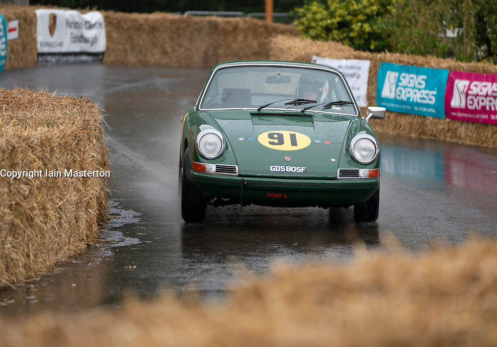 Boness Revival hillclimb motorsport event in Boness, Scotland, UK. The 2019 Bo'ness Revival Classic and Hillclimb, Scotland's first purpose-built motorsport venue, it marked 60 years since double Formula 1 World Champion Jim Clark competed here.  It took place Saturday 31 August and Sunday 1 September 2019. 91. Paul Farrell Porsche 912