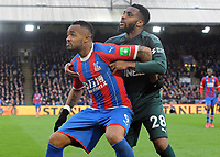 Football - 2019 / 2020 Premier League - Crystal Palace vs. Newcastle United<br /> Jordan Ayew of Palace is closely marked by Danny Rose of Newcastle , at Selhurst Park.<br /> <br /> COLORSPORT/ANDREW COWIE