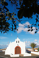 Espagne. Iles Canaries. Lanzarote. Eglise du village de Tiagua. // Spain. Canary islands. Lanzarote. Church of Tiagua village.