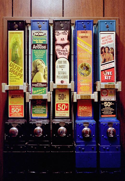 Condom machine in diner men's room