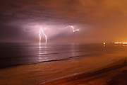 Lightning Storm over the Ocean in San Clemente