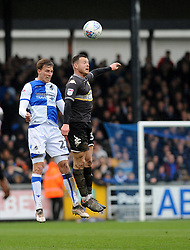 Joe Partington of Bristol Rovers heads clear - Mandatory by-line: Neil Brookman/JMP - 30/03/2018 - FOOTBALL - Memorial Stadium - Bristol, England - Bristol Rovers v Bury - Sky Bet League One