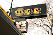 Hopworks Urban Brewery is an organic brewery and restaurant in Portland, Oregon.