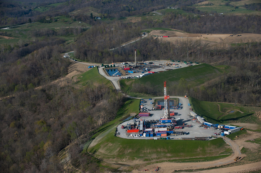 Marcellus Shale well pads in Greene County, PA