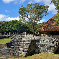 Plaza Central Altar at San Gervasio near San Miguel, Cozumel, Mexico <br />