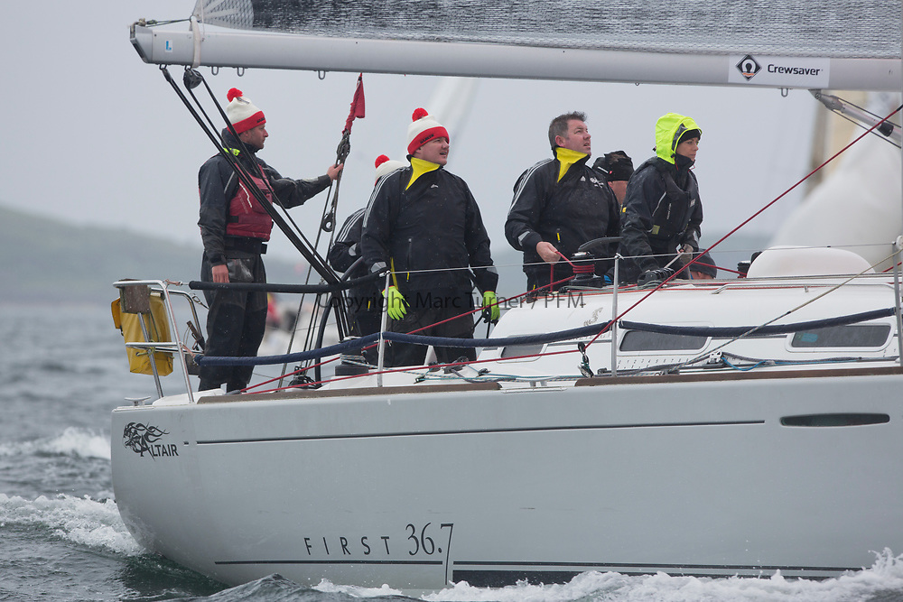 Silvers Marine Scottish Series 2017<br /> Tarbert Loch Fyne - Sailing<br /> <br /> IRL3670, Altair, K Dorgan and J Losty, Cove Sailing Club, Beneteau 36.7<br /> <br /> Credit: Marc Turner / CCC