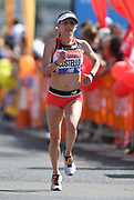 Liz Costello (USA) places 13th in in the women's race in 2:40:04 in the London Marathon in London, Sunday, April 22, 2018. (Jiro Mochizuki/Image of Sport)
