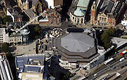 aerial photograph of the Crucible Theatre Sheffield West Yorkshire England UK