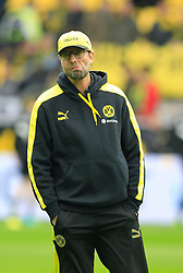 15.02.2014, Signal Iduna Park, Dortmund, GER, 1. FBL, Borussia Dortmund vs Eintracht Frankfurt, 21. Runde, im Bild Trainer Juergen Klopp (Borussia Dortmund) nachdenklich // during the German Bundesliga 21th round match between Borussia Dortmund and Eintracht Frankfurt at the Signal Iduna Park in Dortmund, Germany on 2014/02/15. EXPA Pictures © 2014, PhotoCredit: EXPA/ Eibner-Pressefoto/ Schueler<br /> <br /> *****ATTENTION - OUT of GER*****