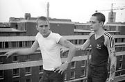Dean and Nigel in London, UK, 1980s.