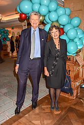 William & Olga Shawcross at the launch of the Fortnum & Mason Christmas & Other Winter Feasts Cook Book by Tom Parker Bowles held at Fortnum & Mason, 181 Piccadilly, London, England. 17 October 2018.