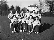 Women's Hockey White Cup Semi Finals, Claremont Rd..Waterford vs Instonians, Belfast.11/04/1958