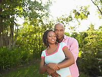 Couple in garden portrait