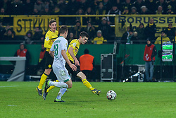 05.02.2019, Signal Iduna Park, Dortmund, GER, DFB Pokal, Borussia Dortmund vs SV Werder Bremen, Achtelfinale, im Bild Christian Pulisic (BVB Borussia Dortmund / Ballspielverein Borussia 09 e.V. Dortmund #22) trifft zum 2:1 in der Nachspielzeit // during the German Pokal round of 16 match between Borussia Dortmund and SV Werder Bremen at the Signal Iduna Park in Dortmund, Germany on 2019/02/05. EXPA Pictures © 2019, PhotoCredit: EXPA/ Andreas Gumz<br /> <br /> *****ATTENTION - OUT of GER*****