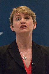 © Licensed to London News Pictures. 01/09/2015. London, UK. Labour Party leadership candidate, Yvette Cooper gives a speech on the refugee crisis at the Centre for European Reform in London today. Photo credit : Vickie Flores/LNP