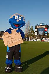 July 20, 2011; Santa Clara, CA, USA;  The San Jose Earthquakes mascot stands on the field before the game against the Vancouver Whitecaps at Buck Shaw Stadium.