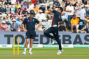 James Anderson of England bowling during the warm up ahead of the International Test Match 2019 match between England and Australia at Edgbaston, Birmingham, United Kingdom on 3 August 2019.