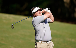 Georgia head football football coach Kirby Smart tees off during the Chick-fil-A Peach Bowl Challenge at the Ritz Carlton Reynolds, Lake Oconee, on Tuesday, April 30, 2019, in Greensboro, GA. (Paul Abell via Abell Images for Chick-fil-A Peach Bowl Challenge)