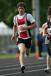 Hamilton, Ontario ---07/06/08--- Greg Staeger of St.Thomas Aquinas in London competes in the 800 meters at the 2008 OFSAA Track and Field meet in Hamilton, Ontario..Sean Burges