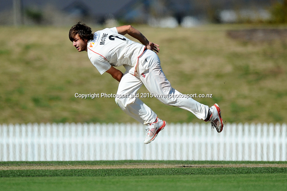 Canterbury player Ryan McCone during their Plunket Shield match Central Stags v Canterbury at Saxton Oval, Nelson, New Zealand. Thursday 19 March 2015. Copyright Photo: Chris Symes / www.photosport.co.nz